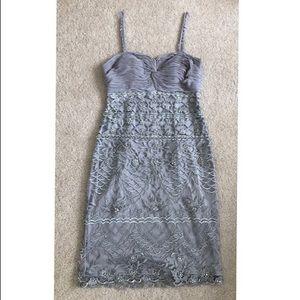 Gorgeous Sue Wong Silver gray dress size 4